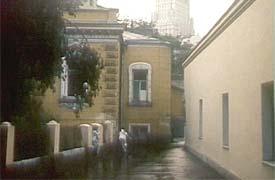Большой Лёвшинский переулок в фильме, 1984 год